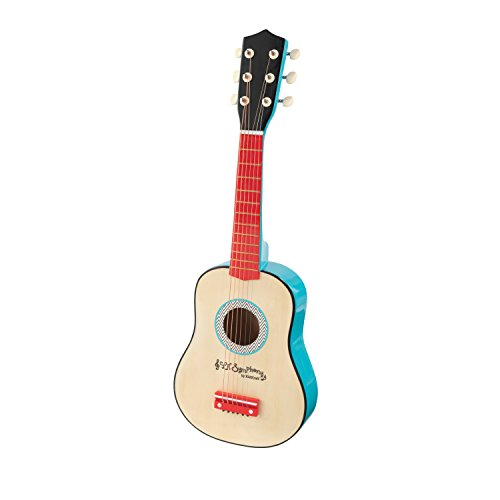 KidKraft Lil' Symphony Wooden Play Guitar, Kids Musical Instrument Toy, Gift for Ages 3+
