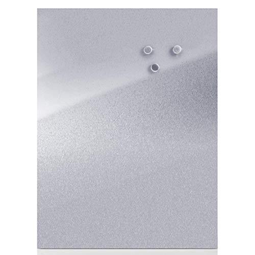 Zeller 11120 Bacheca Magnetica, Stainless Steel, Argento, 60x40x1.4 cm