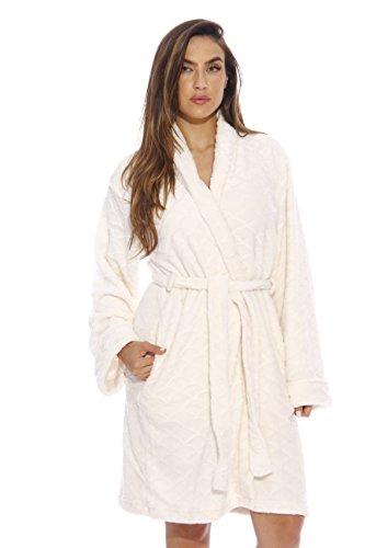 Just Love Kimono Robe / Bath Robes for Women, SizeMedium, Cream