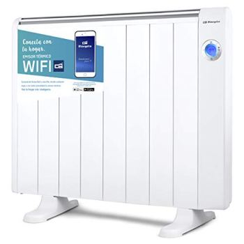 Orbegozo RRW 1500 - Emisor térmico bajo consumo Wi-Fi, 1500 W, pantalla digital LCD, programable, conexión inalámbrica mediante Orbegozo APP