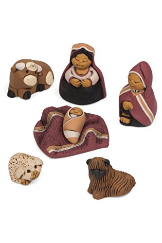 Ten Thousand Villages Peruvian Ceramic Nativity Set 'Peaceful Sleep Nativity'