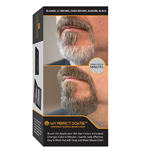 Tinta temporanea per barba My Perfect Goatee (Inclusi tutti i colori) pennello | cambiare colore in pochi minuti | delicata, sicura, efficace | facile da rimuovere con acqua e sapone (tinta per barba)