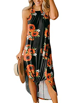 Maxi Dress - With a Side Slit that Will Never Go Out of Style, this Maxi Sundress Promises a Fabulous Look You'll Always Feel Confident in. You can Even Tie Up the Bottom Hemline for a Sweet Knotted Detail! Dress it Up Now to Enjoy this Cozy Summer V...
