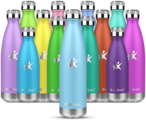 KollyKolla Gourde INOX Isotherme - 350ml, Bouteille d'eau Acier Inoxydable...