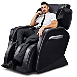 Massage Chair, Zero Gravity Massage Chair, Full Body Massage Chair with Lower-Back Heating and Foot Roller Black