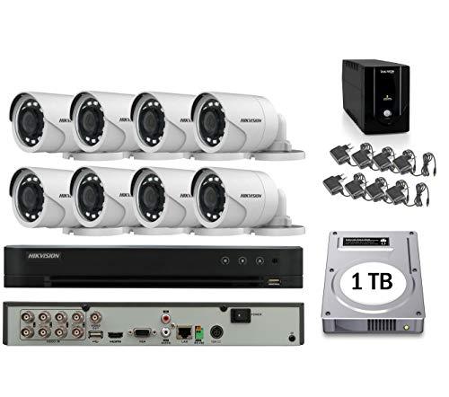 KIT HIKVISION TURBO 8 TELECAMERE ALTA DEFINIZIONE, DVR 8 CANALI 5 MP OMAGGIO HDD 1 TB UPS 650 VA
