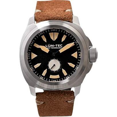 Lum-Tec M85 Wrist Watch Brown | Leather Strap