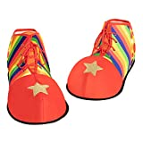 Spooktacular Creations Halloween Jumbo Clown Shoes Unisex Costumes, Accessories, Props, Kits for Halloween, Carnival Cosplay, Carnivals, Fancy Dress Parties Red