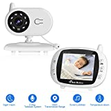 coute Bb Numrique 3.5'' sans Fil avec Camra de Surveillance Longue Porte Babyphone 2.4GHz Audio Bidirectionnel Camra Grand Angle 70 Vision Nocturne Dtection de Temprature Berceuses Intgrs Conversation en Temps Rel