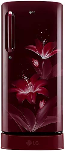 LG 190 L 4 Star Inverter Direct-Cool Single Door Refrigerator (GL-D201ARGY, Ruby Glow, Base Stand...