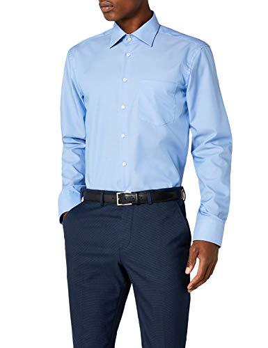 Seidensticker Camicia Business Modern Fit da Uomo con Collo Kent e tasca sul petto, senza ferro, a...