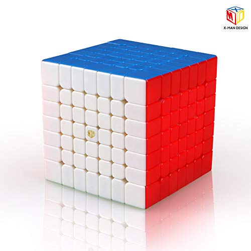 CuberSpeed X-Man Design Spark 7X7 M stickerless Speed Cube Qiyi Spark Magnetic...