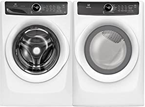 """Electrolux White Front Load Laundry Pair with EFLW427UIW 27"""" Washer and EFME427UIW.."""