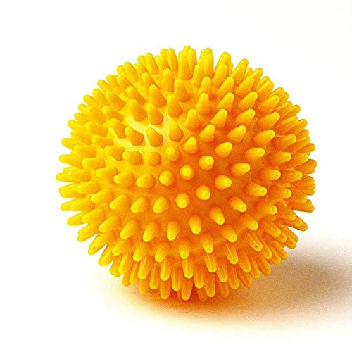 JRS Rubber Spiky Massage Ball for Stress Relieving |Spikes Makes Sensory Stimulation/Complete Body Massage Ball Deep Tissue, Back (Multicolour) Pack of 1