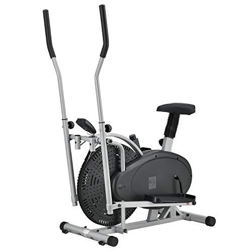 ArtSport 2in1 Crosstrainer & Ergometer | Computer LCD Display Sitz Schwungrad | Heimtrainer Hometrainer Ellipsentrainer Fahrrad Fitnessgerät Stepper Fitness