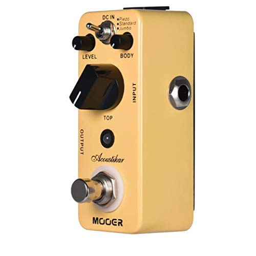 Acoustikar Acoustic Guitar Simulator Effect Pedal True Bypass with 3 Modes (Piezo/Standard/Jumbo)