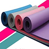 Durable Portable Solid Non-Slip 0.6 Inch Extra Thick Exercise Fitness Yoga Mat Pilates Mat