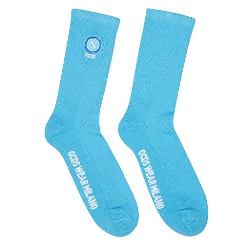 Gcds SSC Napoli X Calzini, Socks Unisex Adulto, Light Blue, One Size