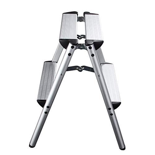 QMFYJ Leitern , Teleskopleiter, Tragbare Faltbare Fischgrätenleiter 2/3/4 Schritt Doppelseitige Fotoleiter Haushaltsleiter Verbreiterung Verdickung Innenwerkzeugleiter,56 * 62 cm,56 * 62 cm