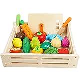 ponny 17 piezas de alimentos frutas y verduras juguetes niños cocina simulación juguete corte...