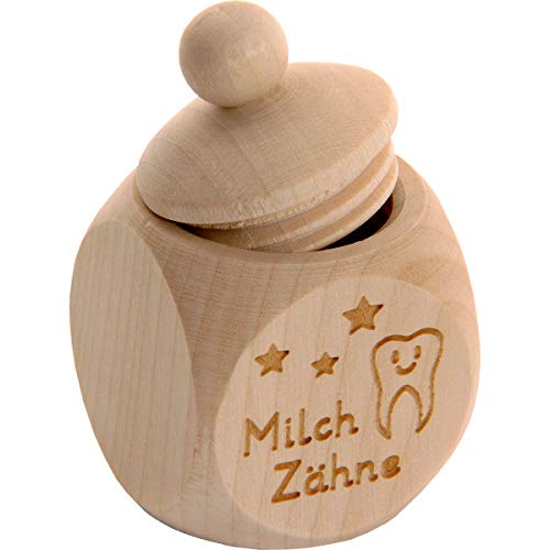 Spruchreif PREMIUM QUALITÄT 100{063225d2df61cdc791246749076beec5669f24722698a13348fdb62d2d2e7745} EMOTIONAL · Milchzahndose aus Holz mit Schraubdeckel und Gravur · Kinder Zahndose für Milchzähne zur Aufbewahrung perfekt als kleines Geschenk · Zahnfee