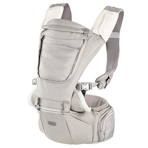 Chicco Hip Seat Carrier Marsupio Neonati Ergonomico da 0 Mesi a 15 kg, Porta Bebè 3in1 Multifunzione con Base Rigida Staccabile, Spallacci Imbottiti e Cappuccio Protettivo, 8 Posizioni - Beige