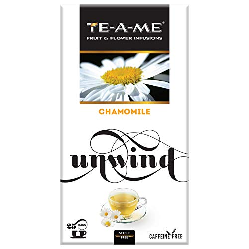 TE-A-ME Chamomile Infusion Tea, 25 Infusion Tea Bags (2 Flavored Bags Free)