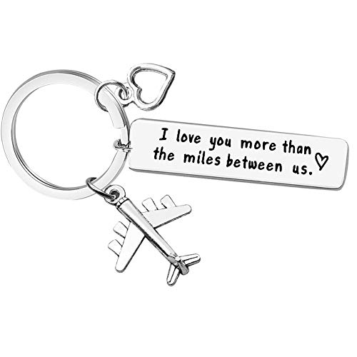 Couple Keychain Long Distance Relationship Gift for...