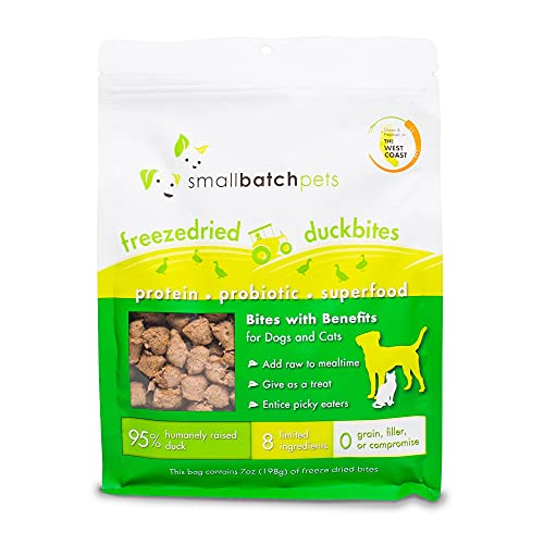 Smallbatch Pets Freeze-Dried Duck Bites for Dogs &...
