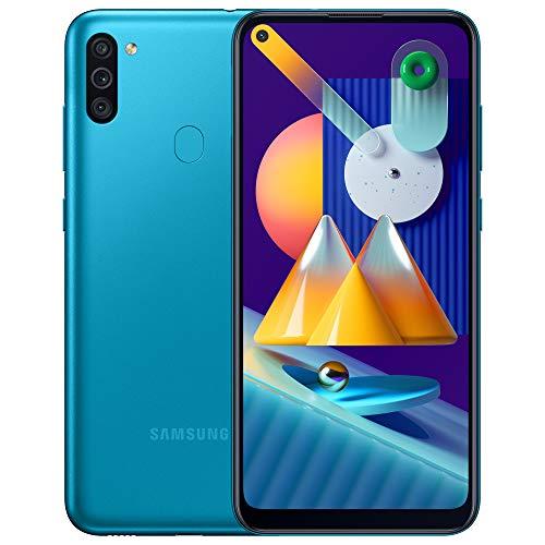 Samsung Galaxy M11 - Smartphone débloqué 4G - Bleu - Version Française [Exclusivité Amazon]