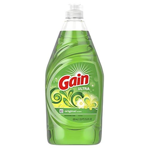 Gain Ultra Dishwashing Liquid Dish Soap, Original Scent, 21.6 fl oz