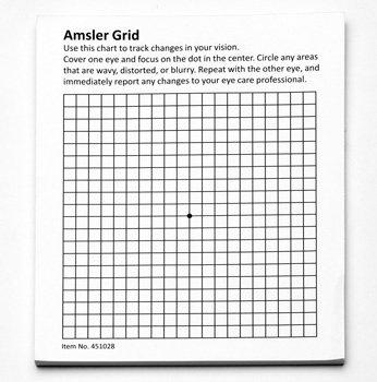 HPS Amsler Grid 50-Sheet Pad with Magnet