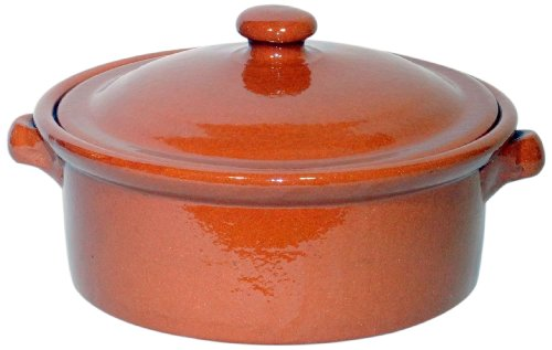 Amazing Cookware - Casseruola in Terracotta Naturale, 2 l