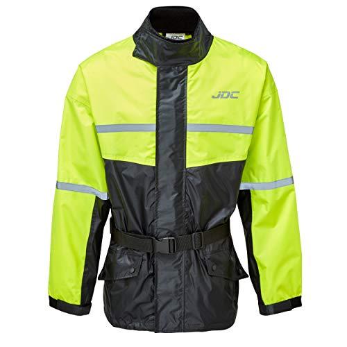 JDC Wasserdichte Motorrad-Regenüberzugsjacke Hohe Sichtbarkeit - SHIELD - Gelb/Schwarz - S