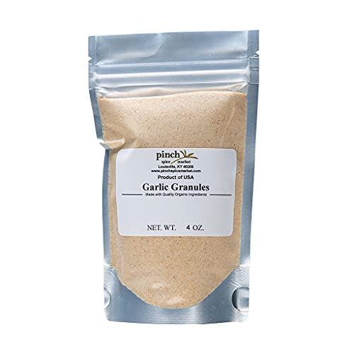 Pinch Spice Market-Garlic Granules Grown in the USA-Highest Quality Organic