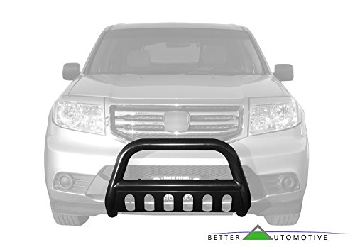 BETTER AUTOMOTIVE Compatible with 1997-2002 Ford Expedition 4WD (Also 99-02 2WD) / 1999-2004 Ford F150/250 LD 2WD / 1997-2004 Ford F150/250LD 4WD 3' Bull BAR Black Bumper Brush Guard