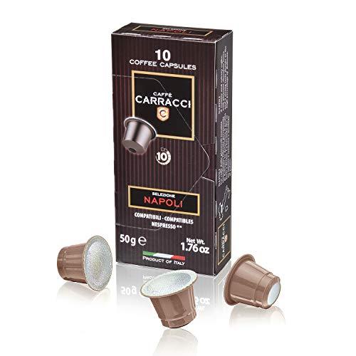 Caffè Carracci, Capsule Compatibili Nespresso, Napoli - 10 astucci da 10 capsule (totale 100...