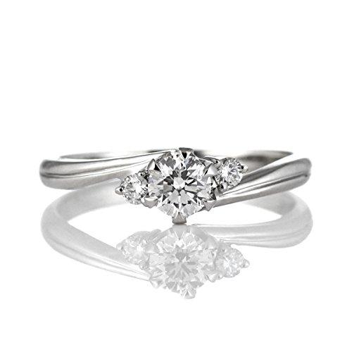 SUEHIRO ダイヤモンド リング レディース 0.2カラット プラチナ 婚約指輪 エンゲージリング