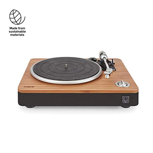 House of Marley Stir It Up Turntable Giradischi, 45/33 Giri, Piatto Lega di Alluminio, Braccio in...
