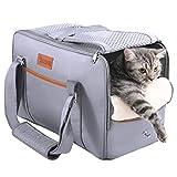 DADYPET Transportin Gato,Transportadoras para Perro,Bolsa de Transporte Transpirable para Mascotas,Cómodo Bolso para Transporte en Tren, Coche, Avión(44 * 23 * 30cm)