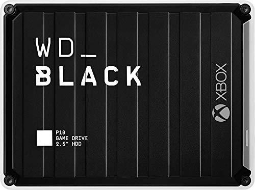 WD_BLACK P10 Game Drive para Xbox de 5TB para llevar tu colección de juegos Xbox allí donde vayas