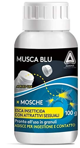 adama Musca Blu Esca insetticida granulare Mosche moschicida 100 g in Barattolo