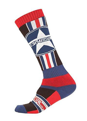 O\'NEAL Pro MX Socken Einheitsgröße Afterburner blau/rot/schwarz 2018 Oneal
