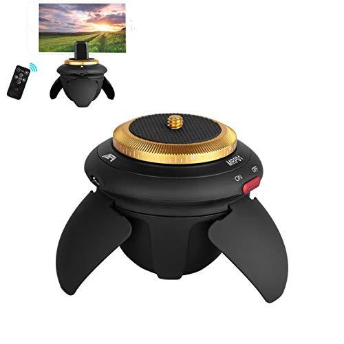 Mini Electric Panorama Tripod Head, Rotante a 360 Gradi motorizzato Rotore Time-Lapse Panoramica Pan Head, per Telecamera GoPro Sports Camera Pocket Micro SLR Camera
