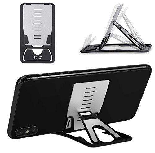 スマホスタンド 折りたたみ 軽量 タブレットスタンド 携帯電話スタンド コンパクト 軽量 カードサイズ 卓上...