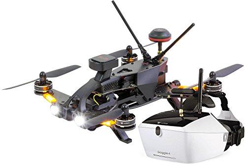 Walkera 15004650Runner 250PRO Racing Quadricottero RTFFPV con videocamera HD, Occhiali Video V4, GPS, OSD, Batteria, Caricabatterie e Telecomando Devo 7
