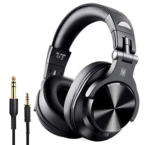 OneAudio A7 Fushion Cuffie Bluetooth Over Ear Chiuse Cuffie Wireless Studio con adattatore Cuffie in pelle Protein Port gratuite Cuffie DJ professionali per il monitoraggio della registrazione