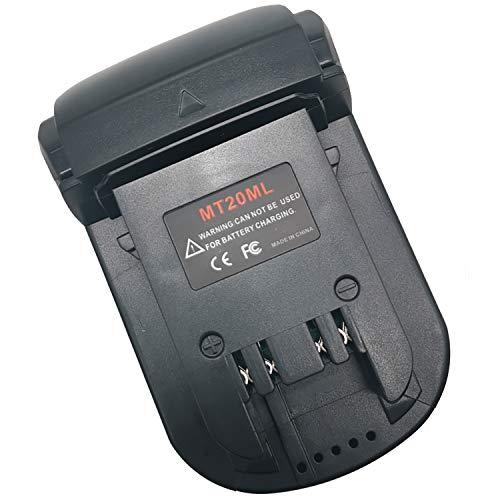 MT20ML Battery Adapter Converter, For Makita 18V 20V Max Li-ion Batteries BL1830 BL1840 BL1850 BL1860 BL1820 BL1815 Convert for Milwaukee M18 Lithium-Ion Battery