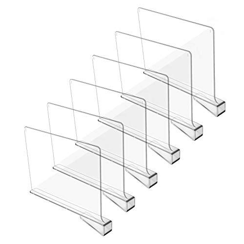 Hmdivor Clear Acrylic Shelf Dividers, Closets Shelf and Closet...