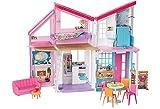 Barbie Mobilier La Maison à Malibu repliable pour poupées, deux étages...